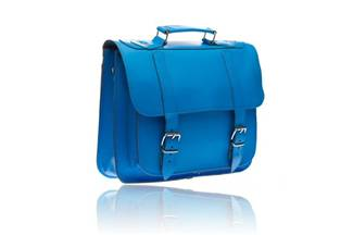 Leather  Briefcase - Newport  blue side